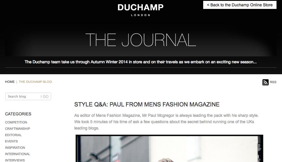Duchamp Style Q&A