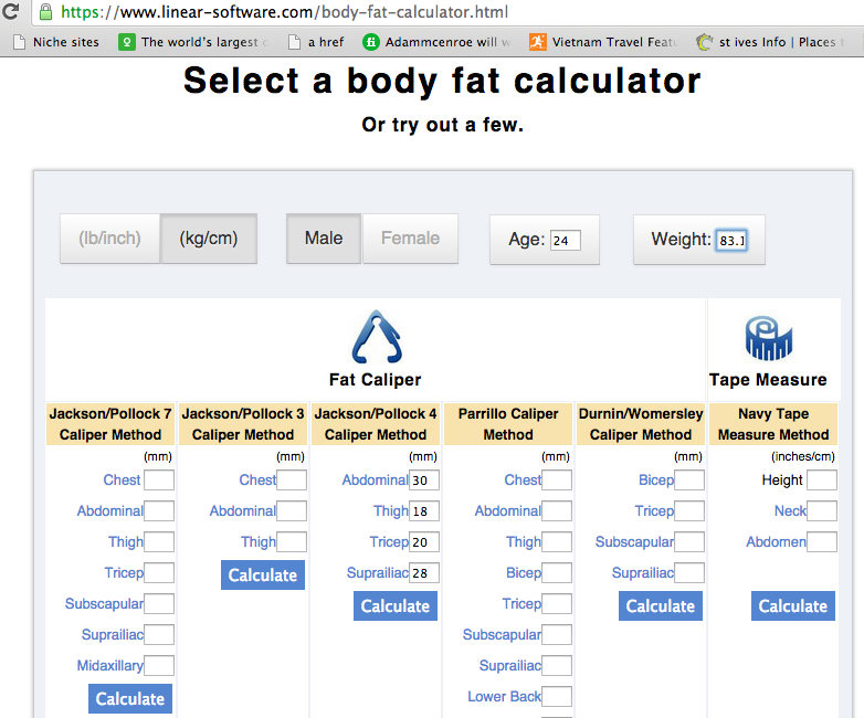 body fat screenshot