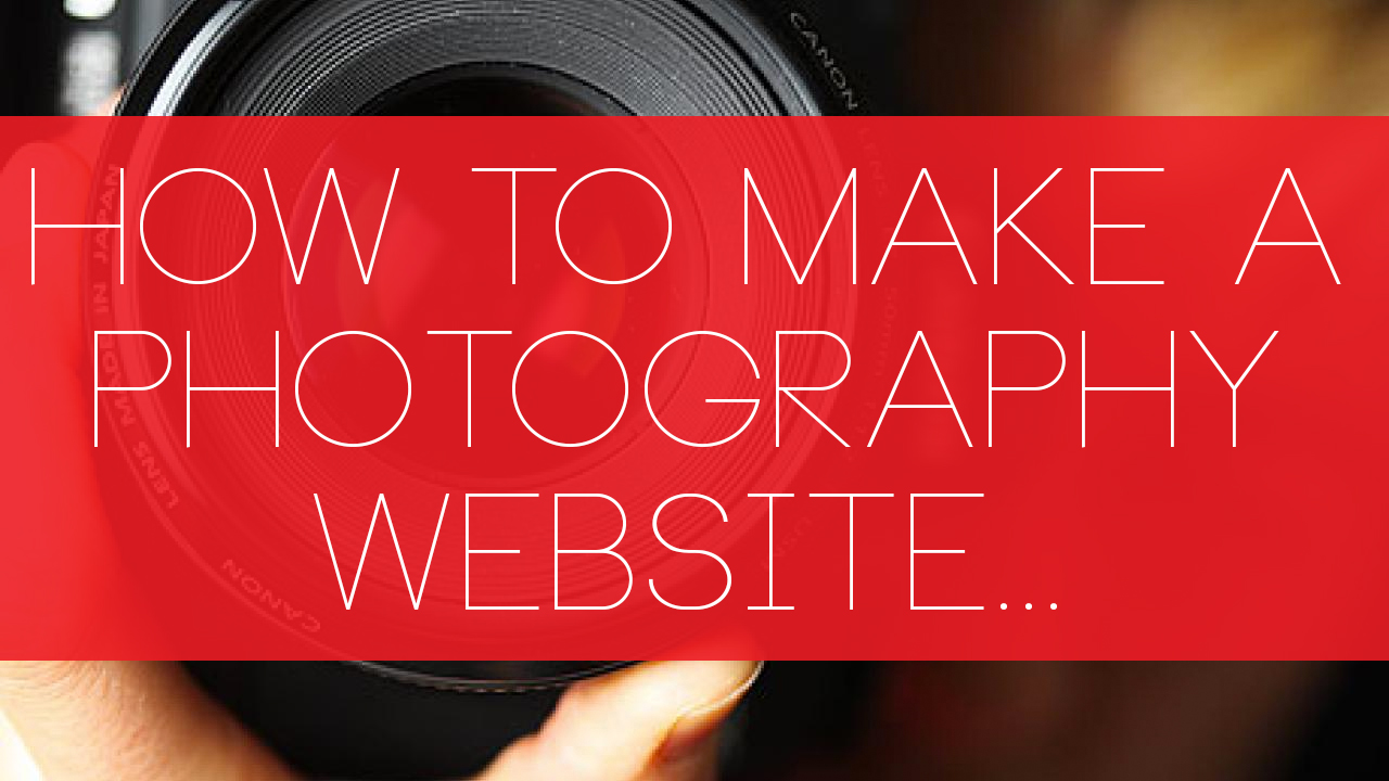 how to make a photography website