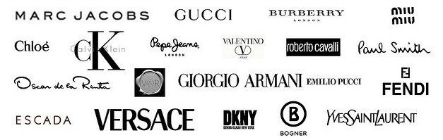 Clothes brands name with logo