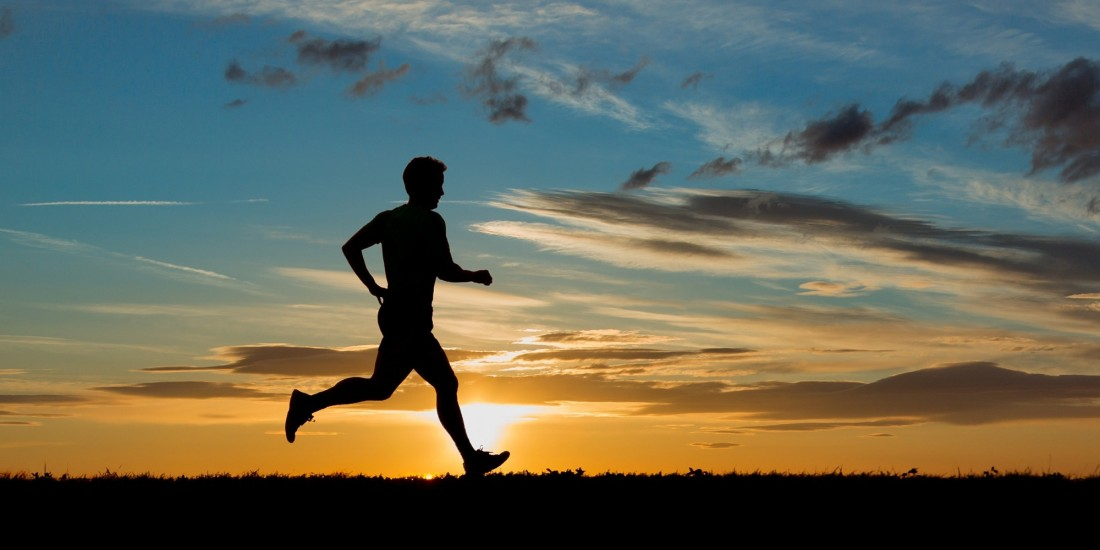 wake up early for a run
