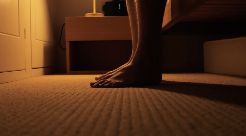 feet touching floor