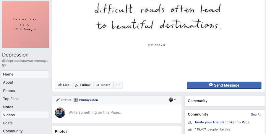depression awareness page