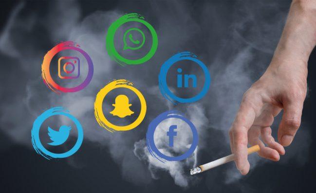 social media smoking